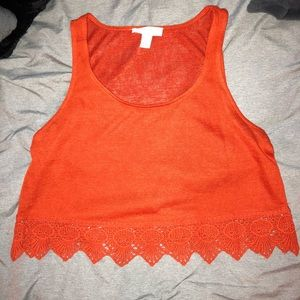 Forever 21 Burnt Orange Crop Top